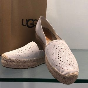 🆕UGG W HEIDI PERFORATED ESPADRILLE White